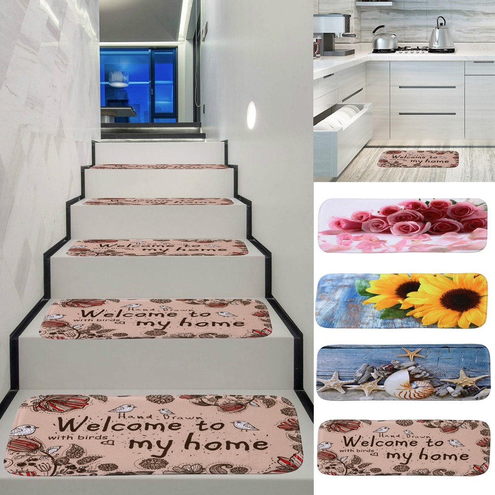 5pcs/lot Non-Slip Backing Skid-Resistant Carpet Stair Mat Gripper Set Easy to Clean Silver