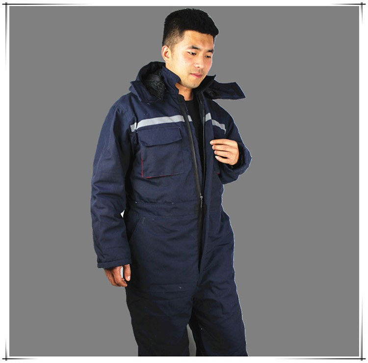 CCGK Winter working clothing Men wadded padded safety clothing outdoor work wear thicken warm protective reflective overalls (6)
