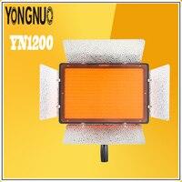 YONGNUO YN1200 וידאו אור LED פנל גדול דק במיוחד 3200 K-5500 K מתכוונן וטמפ 'צבע עבור Canon Nikon המצלמה Pentax SLR