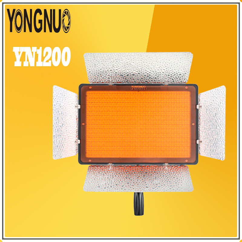 YONGNUO YN1200 LED Video Light Ultra Thin Large Panel 3200K-5500K Adjustable Color Temprature for Canon Nikon Pentax SLR Camera
