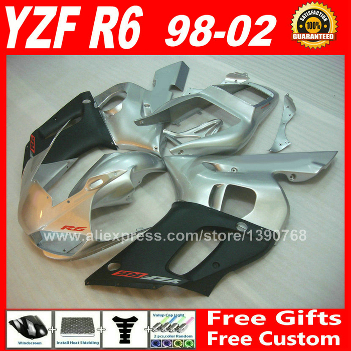 OEM color Fairings fit for 1998 - 2002 YAMAHA YZF R6 plastic parts  1999 2000 2001 98 99 00 01 02 fairing kits S4Z2