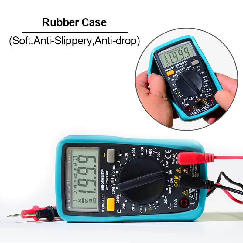 all-sun 2019 EM3301/EM3302 Digital Multimeter Pocket Portable AC/DC Ammeter Voltage ohm Tester Current Ohm With Backlight