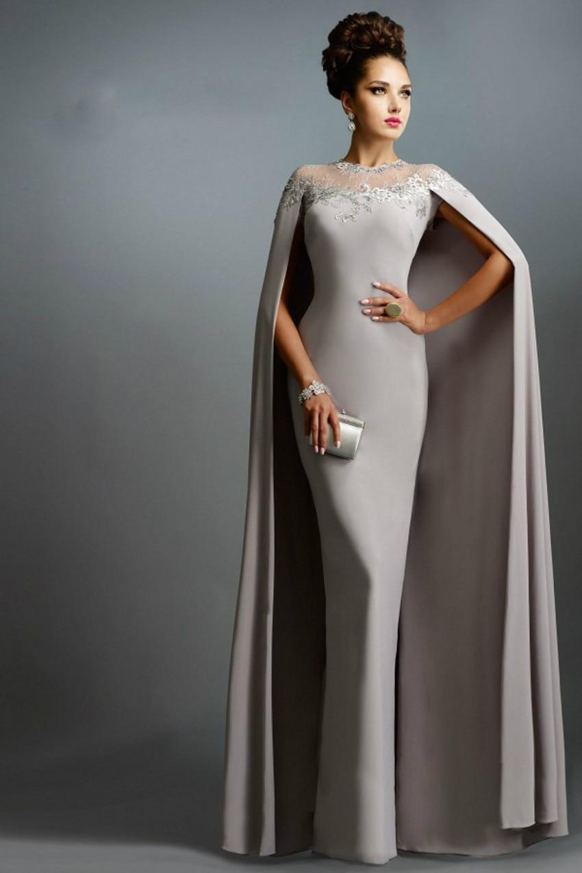 e8f7f37016 2016 Dubai Kaftan Style Women Elegant Formal Gowns Dubai Evening Dress Gray  With Long Wrap