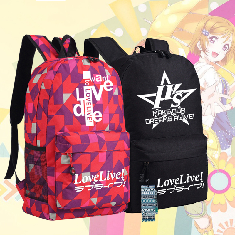 Japanese Cartoon Love Live Make Dreams Alive Backpack Anime bags Student Back to School Schoolbags  Boys Girls Mochila Gift