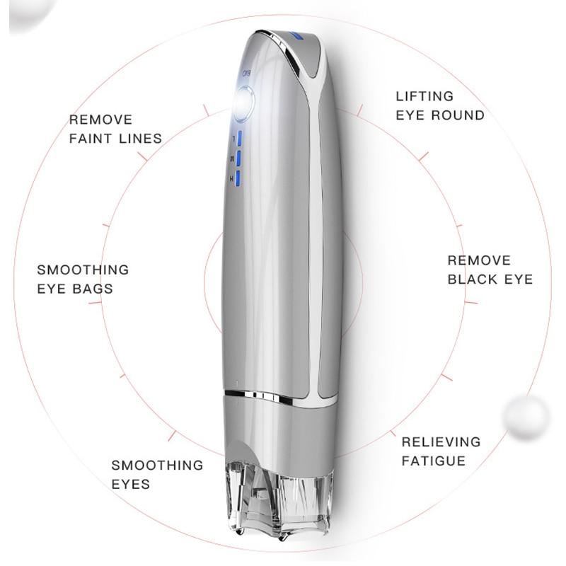 Livraison directe EMS yeux clip massage soins du visage Vibration rides enlever mince visage bâton magique Anti sac pochette et outil de soin des yeux rides