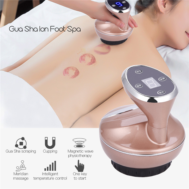 Guasha Suction Scraping Massager Electric Cupping Acupoints Detoxification Massage Skin Care Tool EMS Magnetic Physiotherapy P59