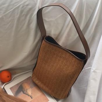 86848ec9f4ae Соломенная Сумка через плечо, женская летняя пляжная сумка в ...