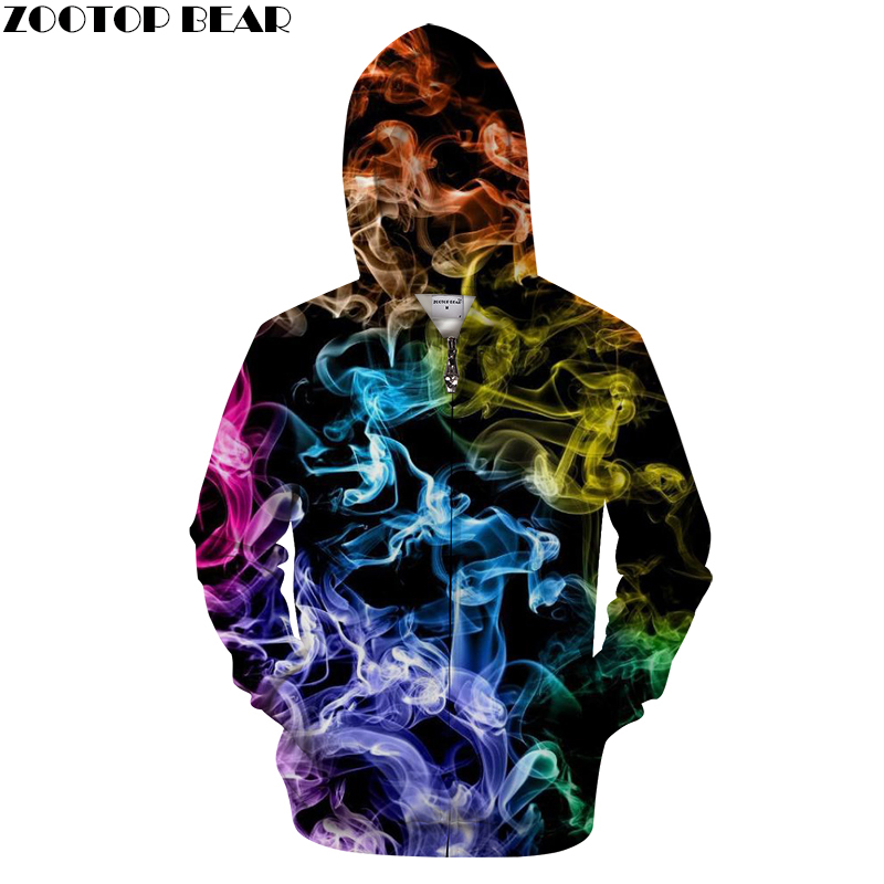 Zip Up Hoodie Fire Flames Tribal Dragon Hooded Sweatshirt for Men