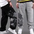 2017 hip hop мужские бегунов паркур Би-боев street dance свободные брюки тренировочные брюки