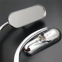 For Motorcycle Suzuki Savage Intruder Volusia Boulevard Chrome Custom Mini Oval mirrors