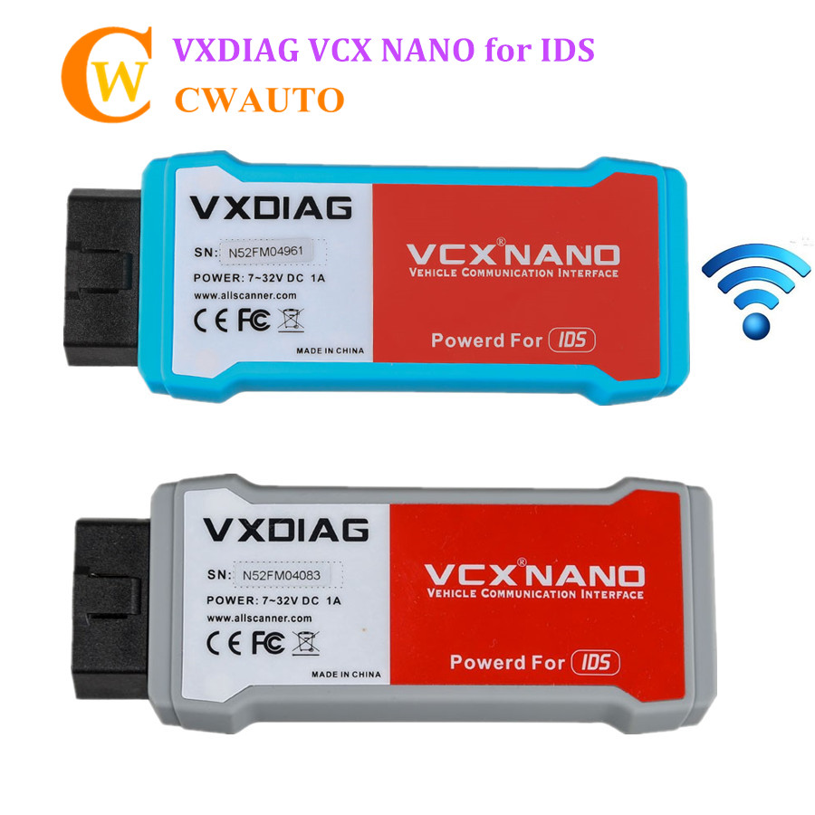 VXDIAG VCX NANO for IDS FD V106 and MA V104 2 in 1 Perfect Replace VCM 2 Diagnostic Scanner Multi languages Support Wireless 2016 vxdiag vcx nano for land rover and jaguar ssd v141 support all protocols 2 in 1 diagnostic tool for diesel