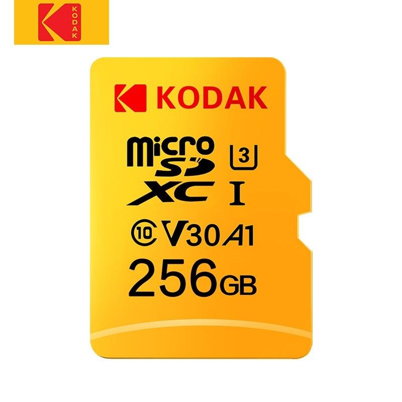 Kodak Original U3 V30 Class10 MicroSD XC SDHC sd cartão de Memória TF Cartão de Memória Flash de 512GB 256GB 128GB 64GB para Vídeo e Armazenamento Móvel