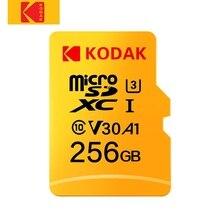 Оригинальный Kodak U3 A1 V30 Class 10 MicroSDXC/SDHC памяти флэш-карты 256 GB 128 GB 64 GB 32 GB для видео и хранения мобильных