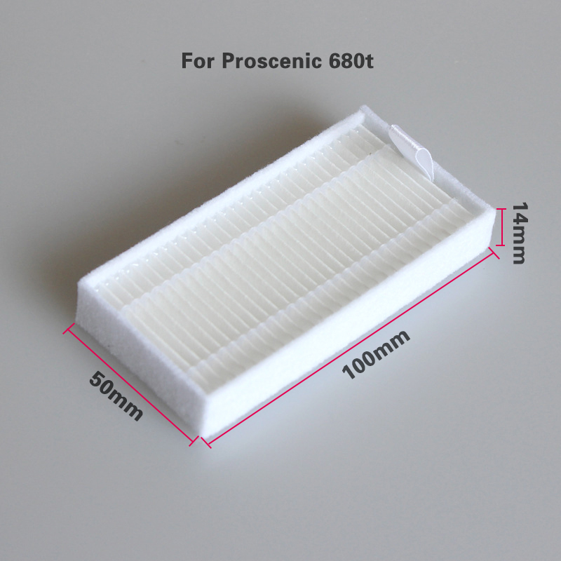Effective Cleaning Unit 100 * 50 * 14 Mm HEPA Filter For Proscenic Pro-Koko SMART 680t Vacuum Cleaner Parts