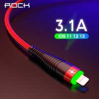 ROCK Led Licht Usb Kabel für iphone 5 5s 6 6s 7 8 Plus X Schnur iPad Usb Lade beleuchtung Kabel Daten Sync Daten Transfer 8 Pin