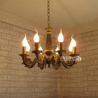 Modern Chandelier Light Antique Iron Brass Color Lighting Modern decoration Lamp Iron Chandelier for Ceiling Chandelier 8 Lights
