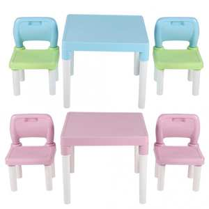 Desk Chair-Set Table Learning-Studying Plastic Kids Writing-Homework Childrens for Combination