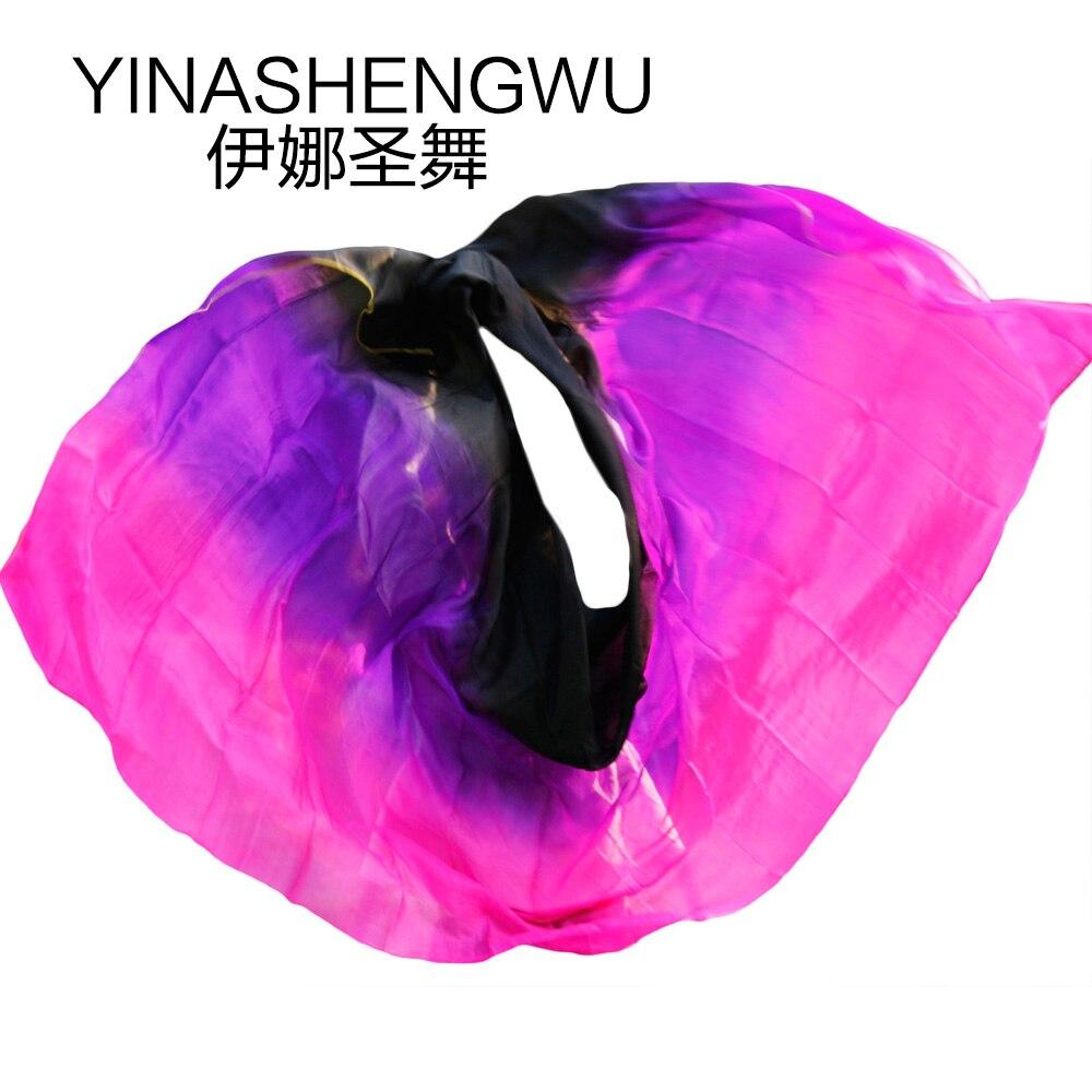 Belly Dance Props Women Belly Dance Silk Veils Belly Dance Veil For Girls Belly Dance Silk Veils Black+purple+rose