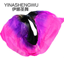 Belly Dance Props Women Silk Veils Veil For Girls black+purple+rose