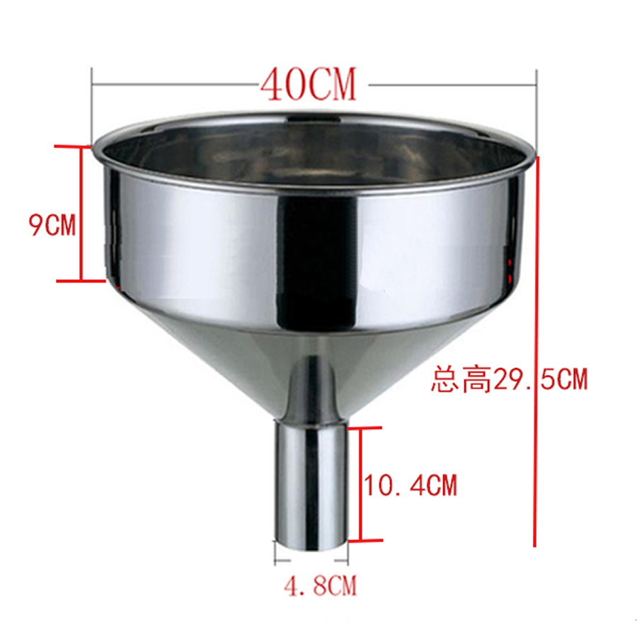 Lijevak od nehrđajućeg čelika Veliki lijevak metalni vinski lijevak lijevak za gorivo veliki ekstra veliki 40cm