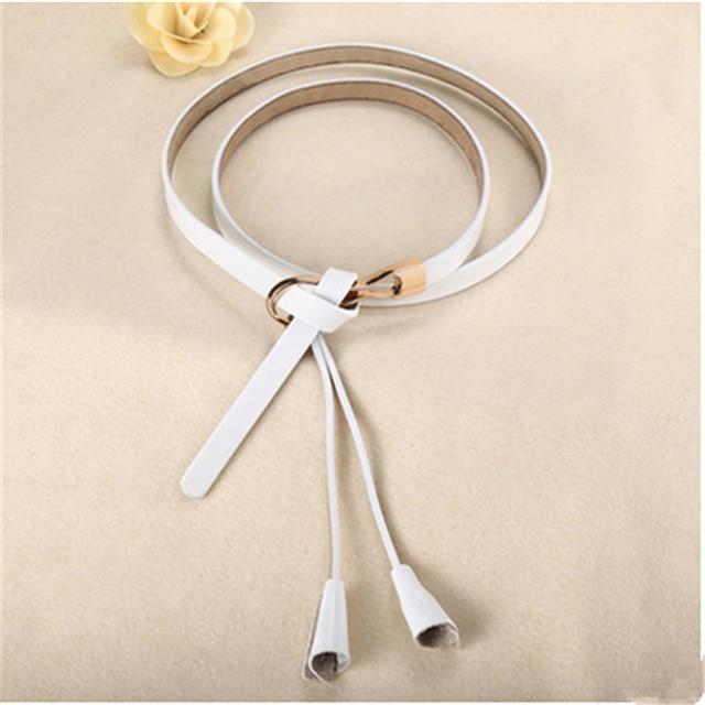 New Arrival Women's Fashion Girls Knot Belts Brand Genuine Leather Famale Straps for Women Dress Sweat Luxury Belt 4