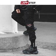 ญี่ปุ่น กางเกง Streetwear ผู้ชายกระเป๋ากางเกง
