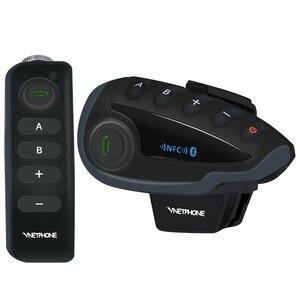 Image 1 - UNA Coppia VNETPHONE V8 Citofono Del Motociclo 5 Piloti Sistema di Comunicazione Bluetooth Casco Walkie Talkie NFC A Distanza di Controllo