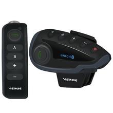 זוג VNETPHONE V8 אינטרקום אופנוע 5 רוכבים Bluetooth תקשורת מערכת קסדת ווקי טוקי NFC שלט רחוק