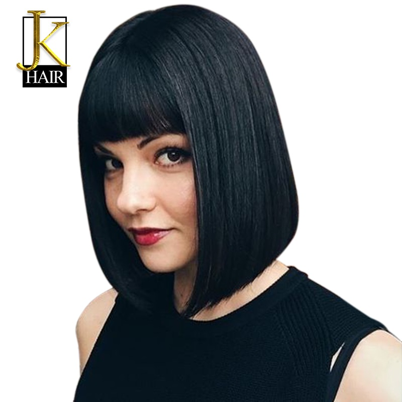 Lace Front Human Hair Wigs For Women Remy Brazilian French Cut Short