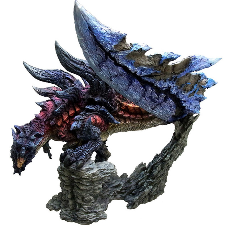 Original Japan Glaivenus Dinovaldo Dragon PVC Model Kit Toy 20cm Height Monster Hunter Rathalos Ember arc
