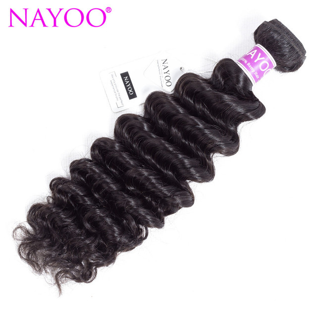 Nayoo Deep Wave Human Hair Bundles 8 26 Indian Remy Hair Nature