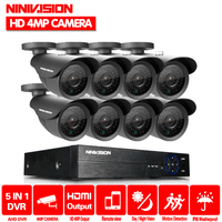 4.0MP HD 2560*1440P Outdoor Security Camera System 1080P 2K HDMI CCTV Video Surveillance 8CH 4MP DVR Kit AHD Camera CCTV Set