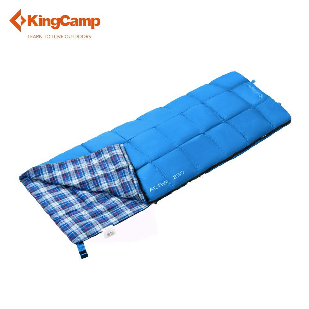 ФОТО KingCamp Camping Envelope Sleeping Bag with Flannel Lined 4 Color Outdoor Sleeping Bag for Spring & Autumn Four Colors Available