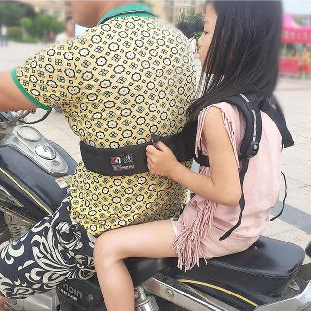 Регулируемый Детей носителей ребенка мотоцикл пояс фирма электрический мотоцикл ремень безопасности Прочный детские перевозчика проводов для путешествий