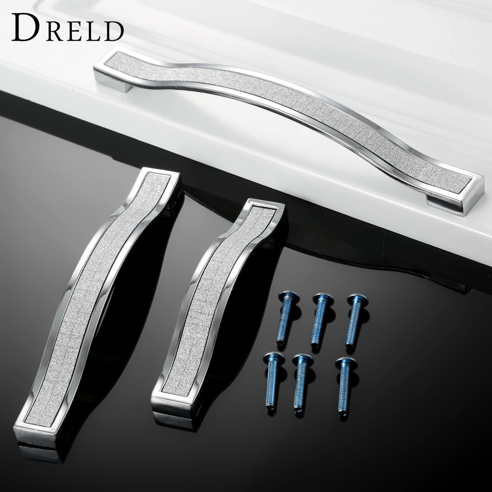 DRELD 96/128/160mm Furniture Handle Modern Cabinet Knobs and Handles Door Cupboard Drawer Kitchen Pull Handle Furniture Hardware hot brown handle single hole leather door handles cabinet cupboard drawer pull knobs furniture kitchen accessories 96 160 192mm