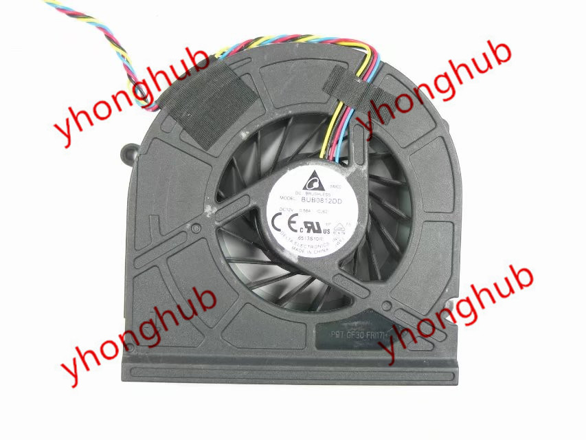 Delta Electronics BUB0812DD CJ62 Server Cooling Fan DC12 0.58A 4-wire delta 12038 120mm 12cm ffb1212vhe dc 12v 1 5a 24w 4wire violence server industrial case cooling fans