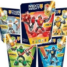 Nexus Nexo Knights Building Blocks Brinquedos Model set Figures Toys Macy Aaron AXL Lance Clay Battle Suit 2018 Legoings Gifts