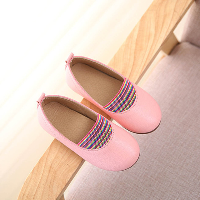 2017 Autumn Slip on Girls Casual Shoes Princess Toddler Loafers Children Girls Ballet Flats Baby First Walkers Sapatos Infantil