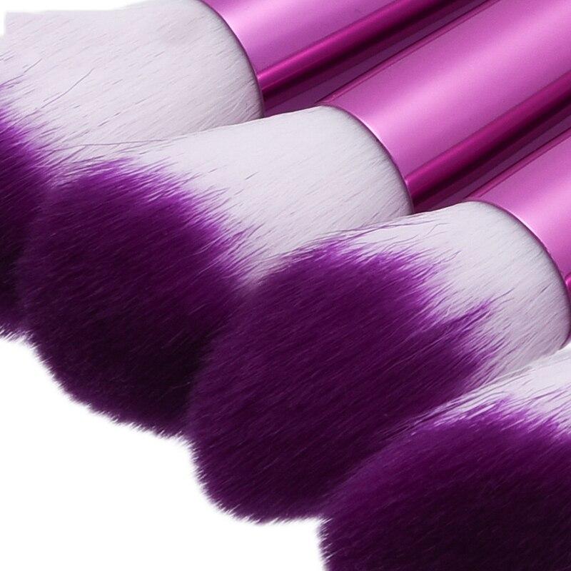 New mermaid 10 pcs Makeup Brushes set Foundation eyeliner Eyebrow Lip Brush Tools cosmetics Kits make up kwasten Brush Set