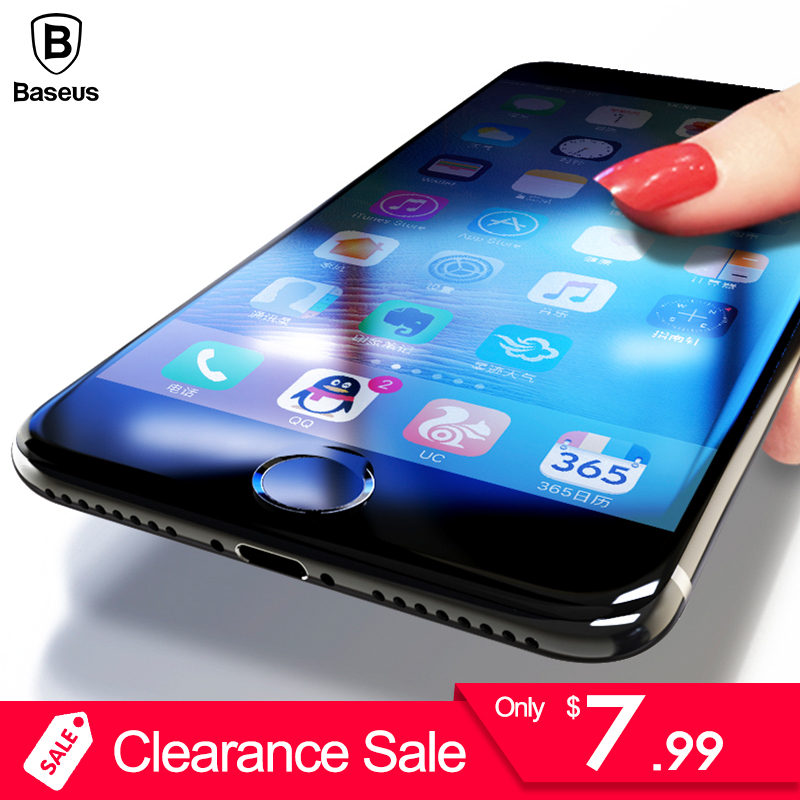 ¡Liquidación! 3D 0,3mm Protector de pantalla para iPhone 6 6 s Baseus Premium de cristal templado para el iPhone 6 6 S Plus protectora película de vidrio