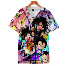 Dragon Ball Super Broly Print Summer Baseball Shirts Fashion Short Sleeve Casual Hot Streetwear Clothes cosplay
