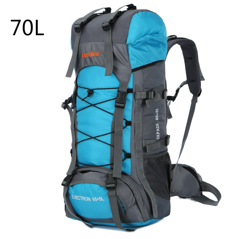 70L Outdoor Climbing Bags Waterproof Hiking Bag Sports Backpack Camping Travel Pack Mountaineer Climbing Sightseeing Rucksack outdoor backpack 80l camping bag travel sports bags waterproof package men rucksack climbing bags hiking backpack