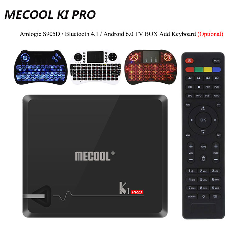 MECOOL KI PRO Amlogic S905D Android 7.1 WiFi 2G 16G TV Box Media Player Quad Core Cortex - A53 CPU Bluetooth 4.1 Media Player пояс для единоборств rusco цвет оранжевый ут 00010491 длина 260 см