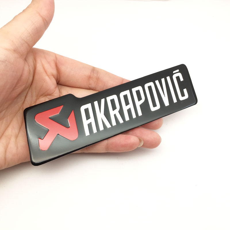 Car Styling 3D Aluminium Heat-resistant Aluminium Motorcycle Exhaust Pipes Decal Stickers For Scorpio Yoshimura Akrapovic