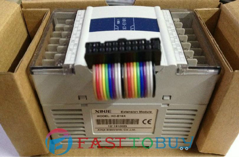 XC Series PLC I/O Expansion Digital Module XC-E16X 16-point Input DC24V New xc series plc i o expansion analog module xc e8ad 14 bit high accuracy analog input 8 channel analog input new