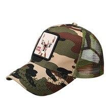 2019 Unisex Deer Embroidery Baseball Cap for Men Trucker Hat Adjustable Mesh Breathable Snapback Hat Bone casquette femme men women baseball cap for men trucker hat bear embroidery adjustable cotton mesh snapback hat bone