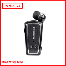 Fineblue F-V3 Mini Retractable Stereo Bluetooth Headset Wireless Clip Headphones For IOS Android 4.0