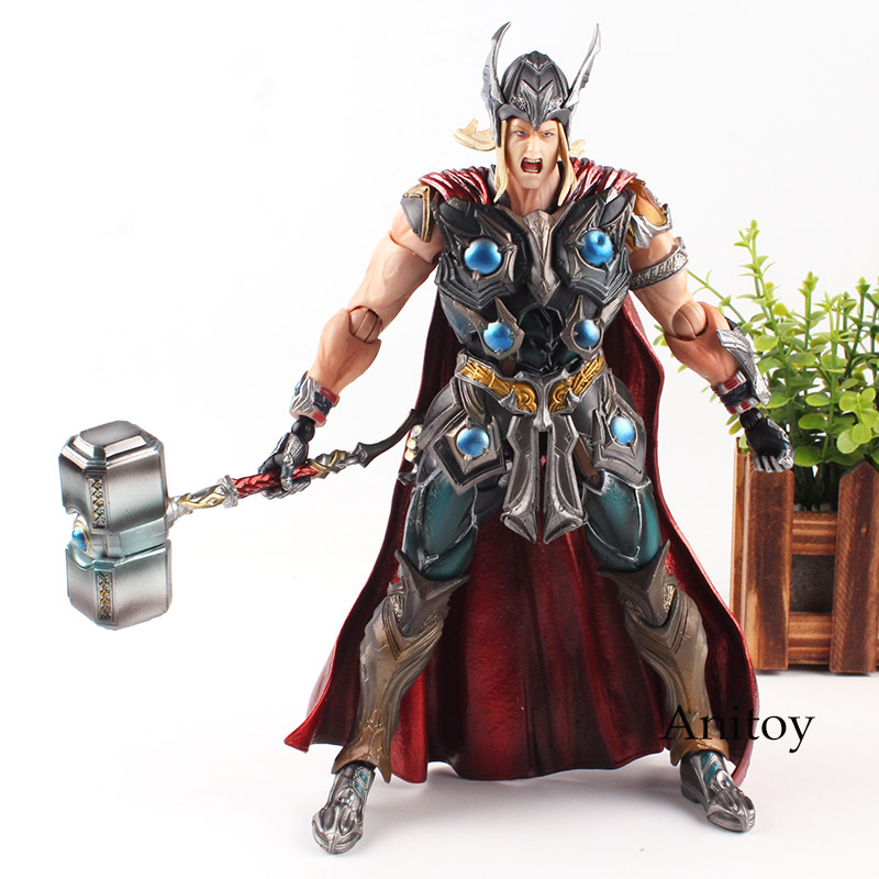 Marvel Universe Variant Play Arts Kai Figure Avengers Thor Action Figure Toy 26cm Marvel Thor Figure дисней спорта игрушки marvel avengers спорт боулинг swl 016
