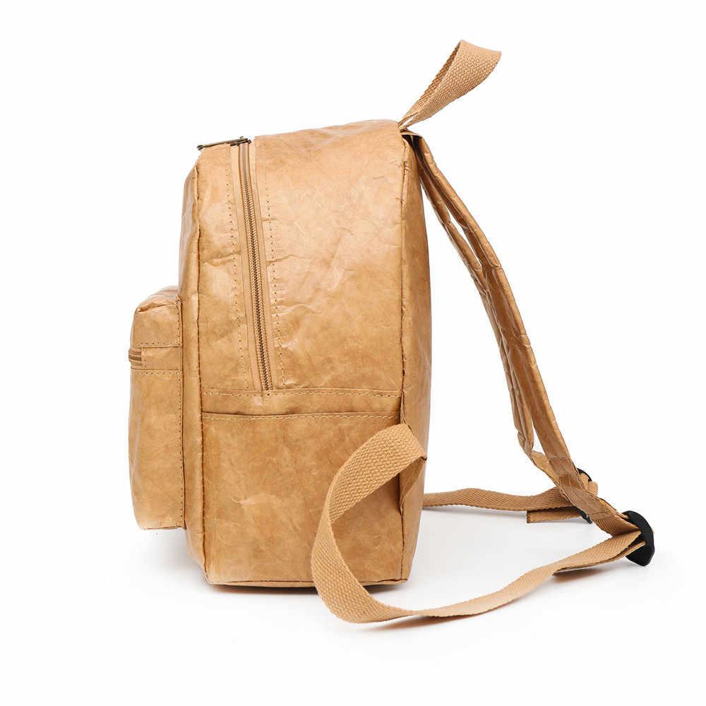 Kraftpaper Dobra Repelente de Água Saco De Escola Mochila Do Vintage das mulheres Ombro Saco de Viagem Pacote de Viagem Mochila Mochilas Mulheres # YL