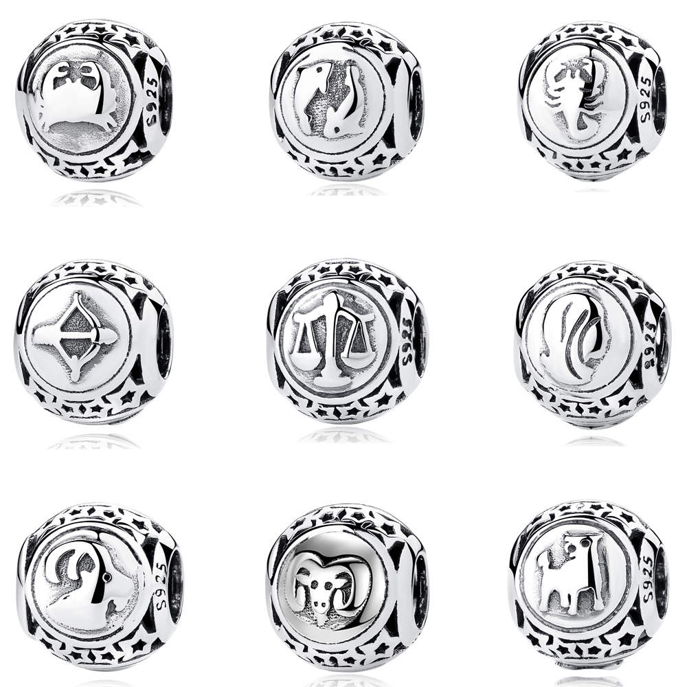 Beads Pisces Star Sign Charm Beads Diy Fits Pandora Original Charms Bracelet 925 Sterling Silver Jewelry For Women Men Gift Fl413 New Varieties Are Introduced One After Another Jewelry & Accessories